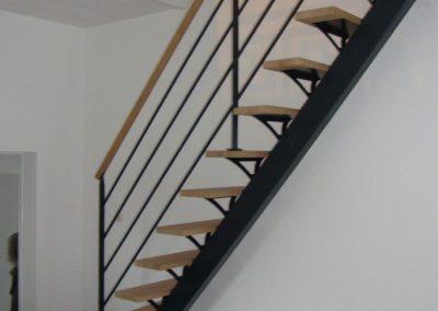 Création d'un escalier bois-acier par Les Sens du Menuisier