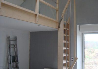 Escalier en bois amovible