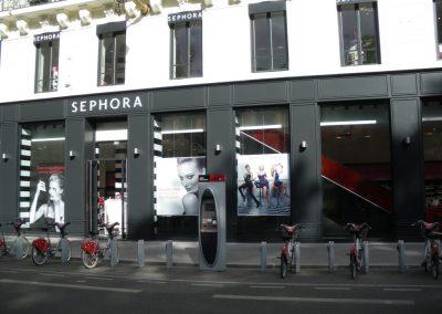 Création de la façade extérieure d'un magasin