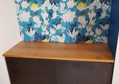 Création d'un meuble de salon par Les Sens du Menuisier