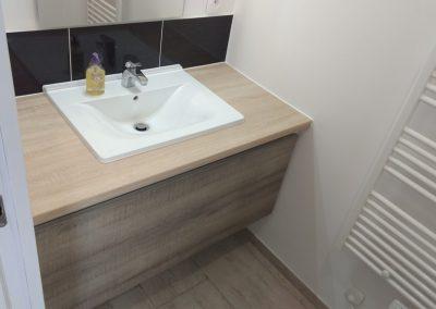 Création d'un meuble sous vasque