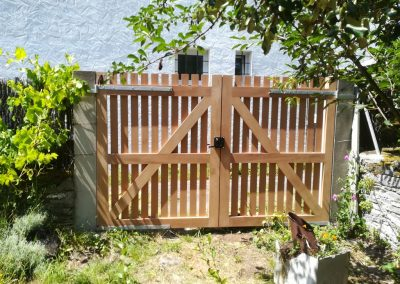 Réalisation d'un portail en bois