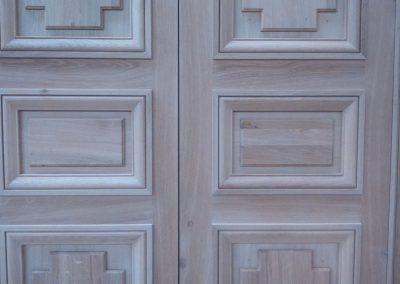 Porte de château en chêne à l'identique par Les Sens du Menuisier