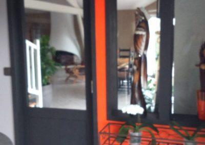 Création de portes coulissantes avec verrière