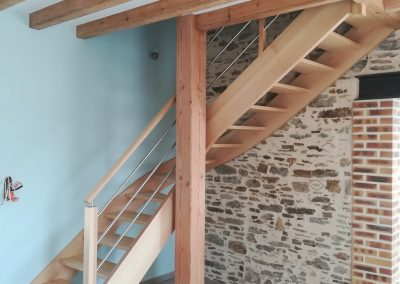 Escalier chêne quart tournant par Les Sens du Menuisier