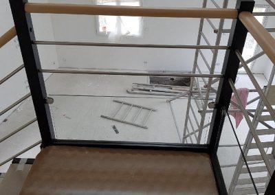 Escalier bois quart tournant avec palier par Les Sens du Menuisier