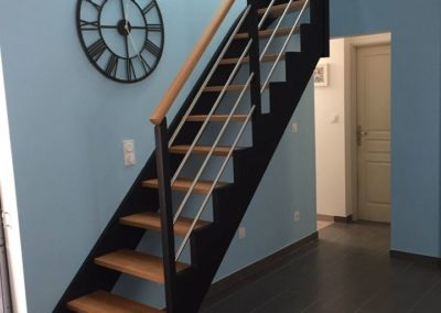 Escalier quart tournant sur mesure par Les Sens du Menuisier