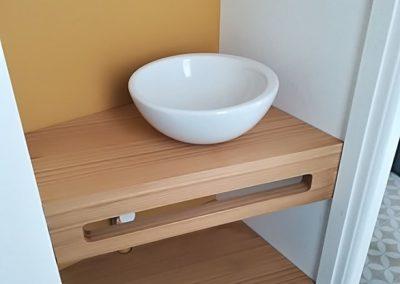Aménagement d'un espace lave-main