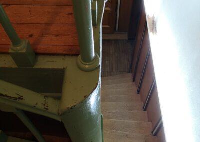 Escalier vintage en acier